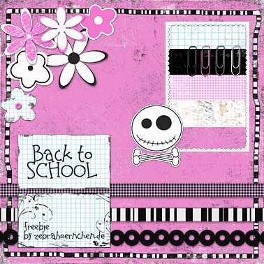 free scrapbooking kit back to school