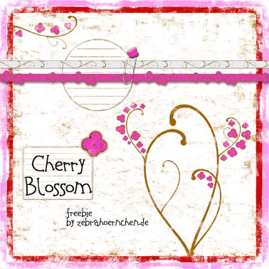 free scrapbooking kit cherry blossom