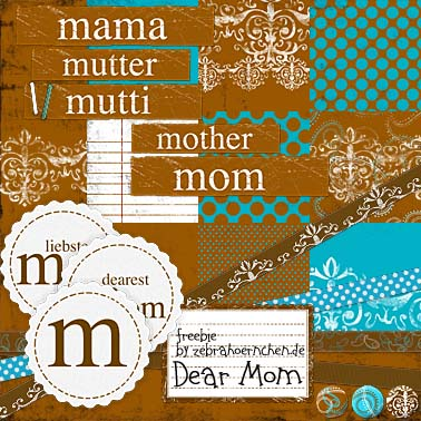 free scrapbooking kit dear mum mutter muttertag mothersday