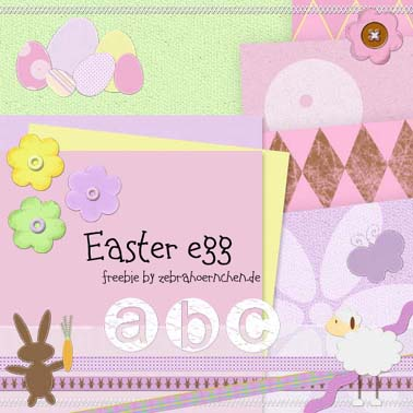 free scrapbooking kit easter egg