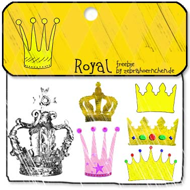 free scrapbooking crowns kronen royal